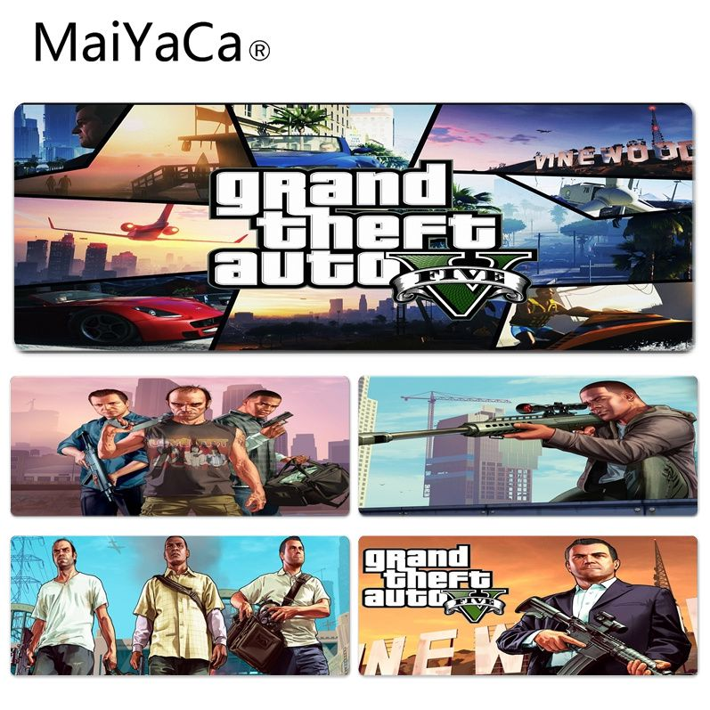 MaiYaCa 2018 New GTA 5 Durable Rubber Mouse Mat Pad Size for 300*900*2mm and 400*900*2mm Game Mousepad