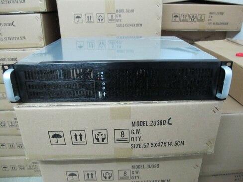 все цены на  Industrial server computer case 2U380mm  firewall NAS pos machine router aluminum panel Chassis USB 19-inch rack  онлайн