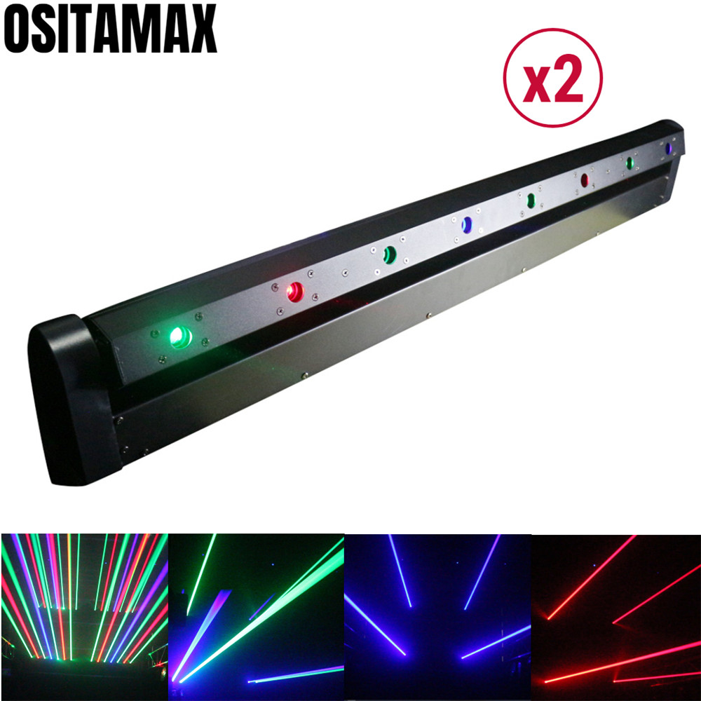 2/lot 800mw Laser Projector Beam Moving Head Light Red Green Blue Colors Professional Stage Disco Lighting DJ Equipment Lasers