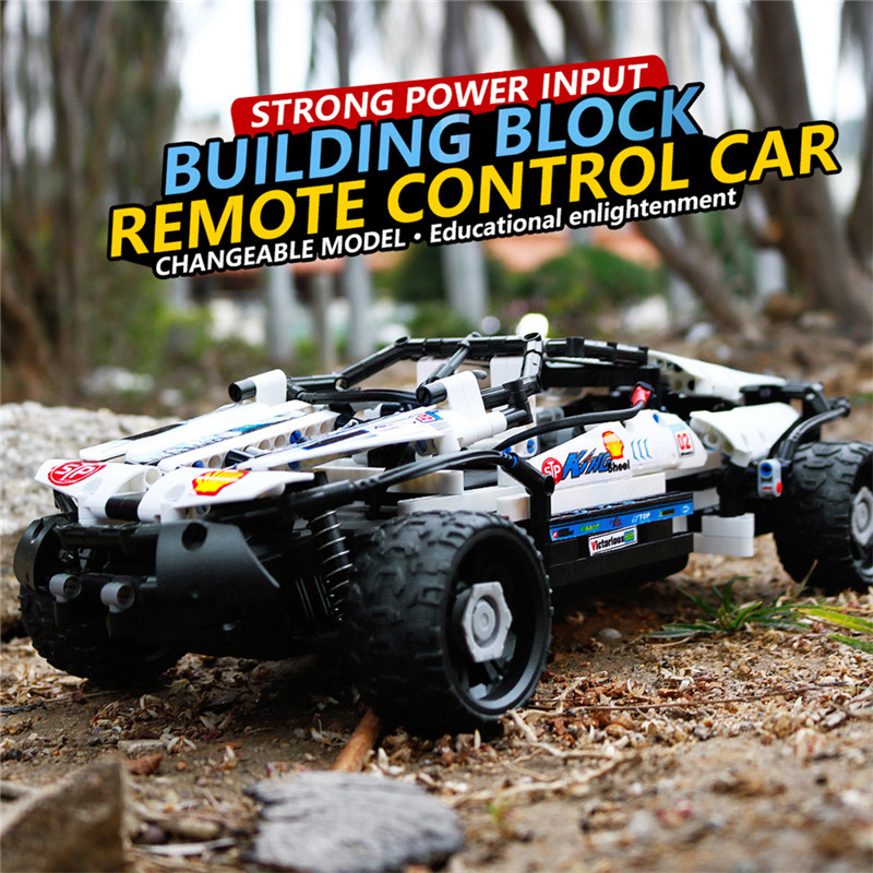 Building Block SDL 2017A-9 4 Channels 10-in-1 DIY Block High Speed Remote Control Off Road Vehicle Car Best Toys Gift For Kids