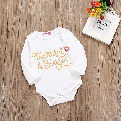 Twinkling Store New 2017 Newborn Baby Boy Girl Summer Clothes Letter Printing Long Sleeve Jumpsuit Bodysuit Sunsuit Outfits