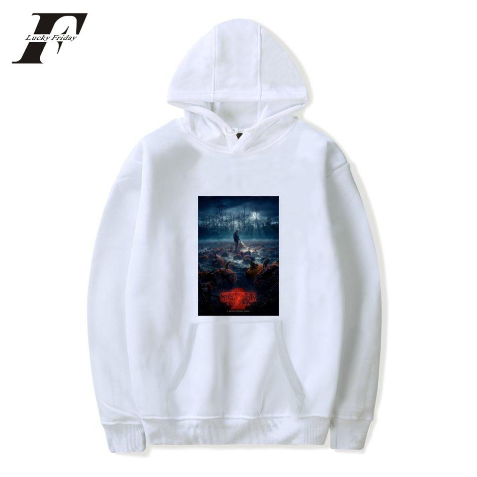 LUCKYFRIDAYF Stranger Things Hoodie Sweatshirt Funny Design Pullover Plus Unisex Winter Warm Cotton For Couple Sweatshirt