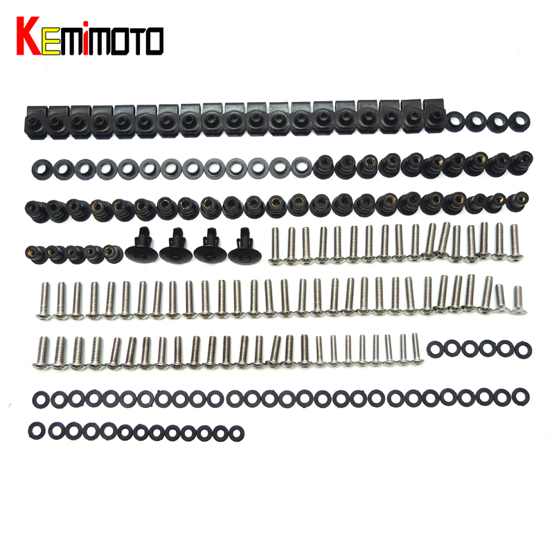 KEMiMOTO For Ducati 848 1098 1198 Motorcycle Fairing Bolt Screw Fastener Nut Washer For Ducati 848 1098 1198 2007 2008 2009 2010