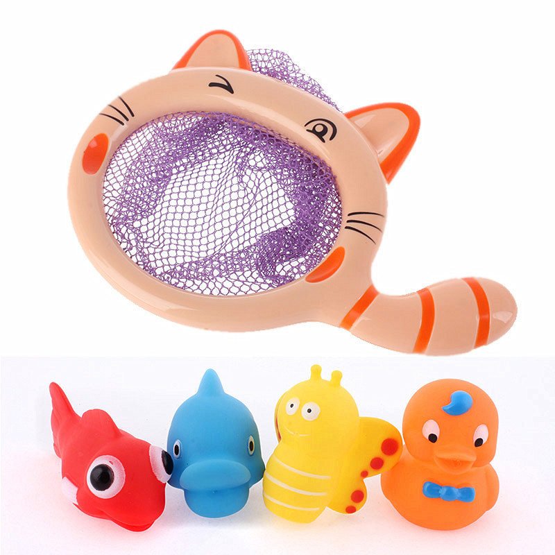Bath Toys in the Bathroom Rubber Duck Animal Spray Rubber Fish Toys ...