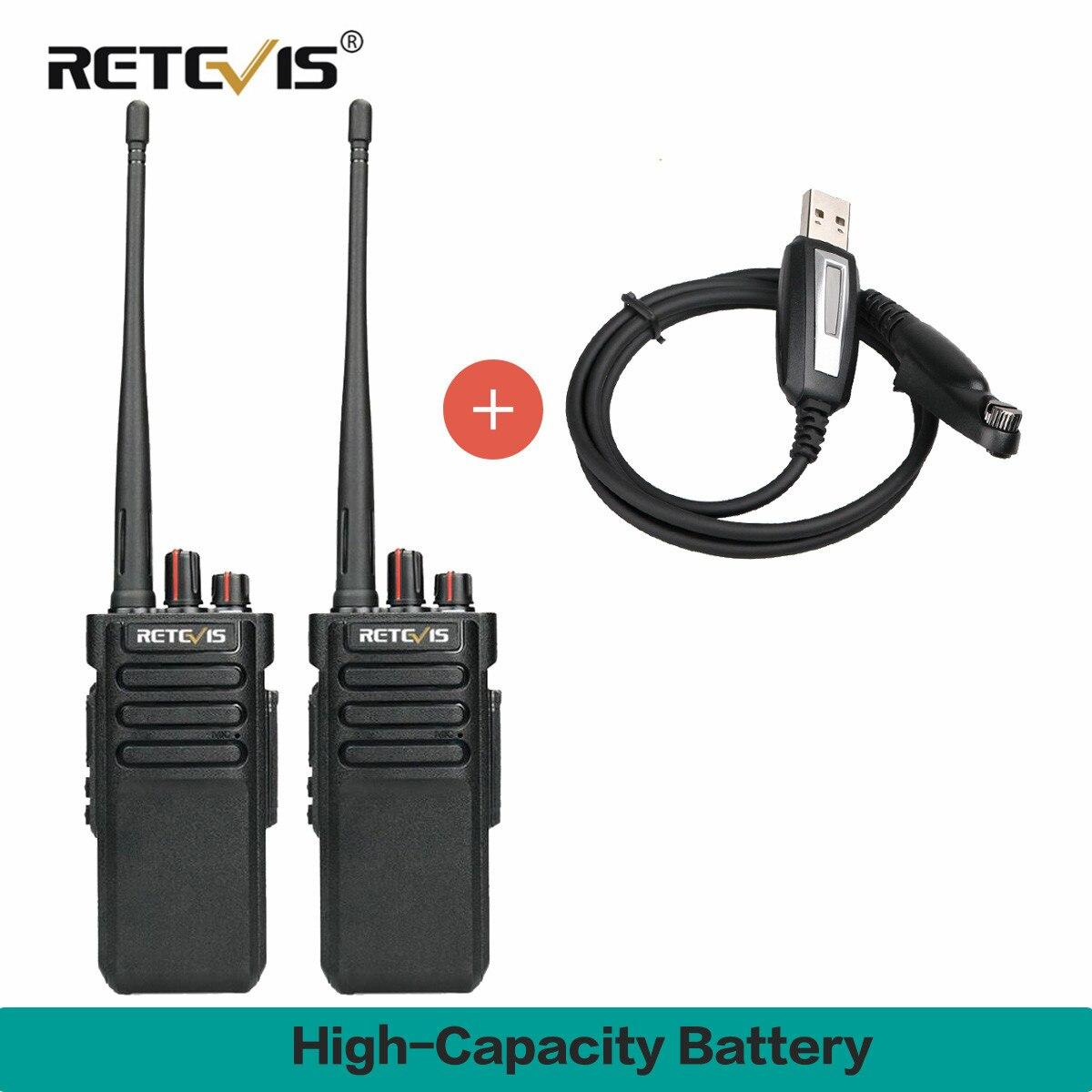 Une paire de talkie walkie RT29 haute puissance IP67 étanche UHF400 480MHz VOX TOT Scan 2 voies Radio HF émetteur récepteur + câble de programme-in Talkie Walkie from Téléphones portables et télécommunications on AliExpress - 11.11_Double 11_Singles' Day 1