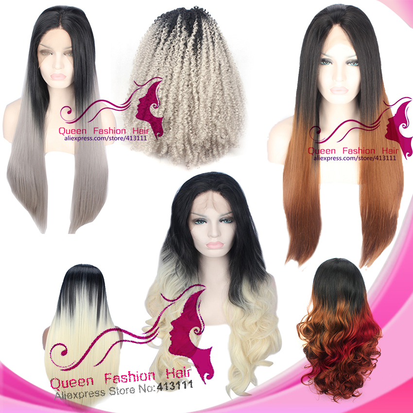 Hot Sale Fashion Ombre Hair Color Wig For Women 2 Tones Hair Long