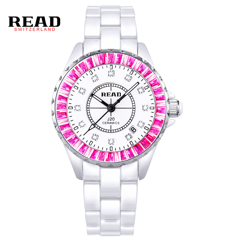 Read Watch Women Brand Luxury Fashion Quartz Ceramic Watches Lady relojes mujer Women Wristwatches Girl Dress Clock PR39 watch women dom brand luxury casual quartz ceramic watches lady relojes mujer women wristwatches girl dress clock t 520