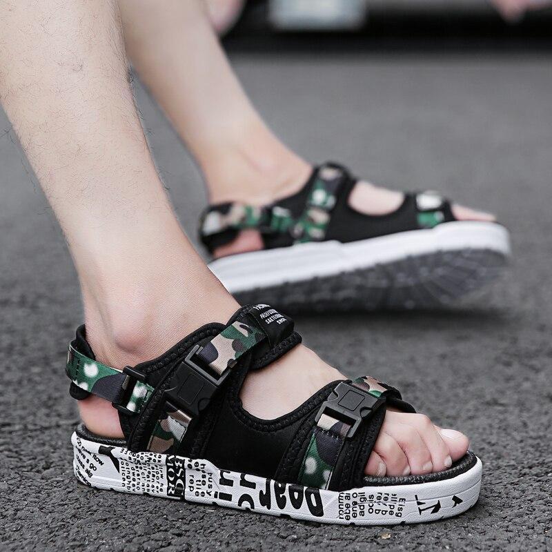 GUDERIAN Summer Man Sandals Outdoor Fashion Shoes Sandal For Men Comfortable Beach Sandal Mens Shoes Casual Heren Sandalen in Men 39 s Sandals from Shoes