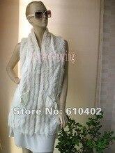 free /wholesale/Wonderful Women's rabbit fur vest /white