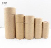 50pc 10/20/30/50/100ml garrafa de óleo caixa de embalagem tubo de papel kraft caixa de embalagem conta gotas garrafa redonda papelão batom perfume caixa