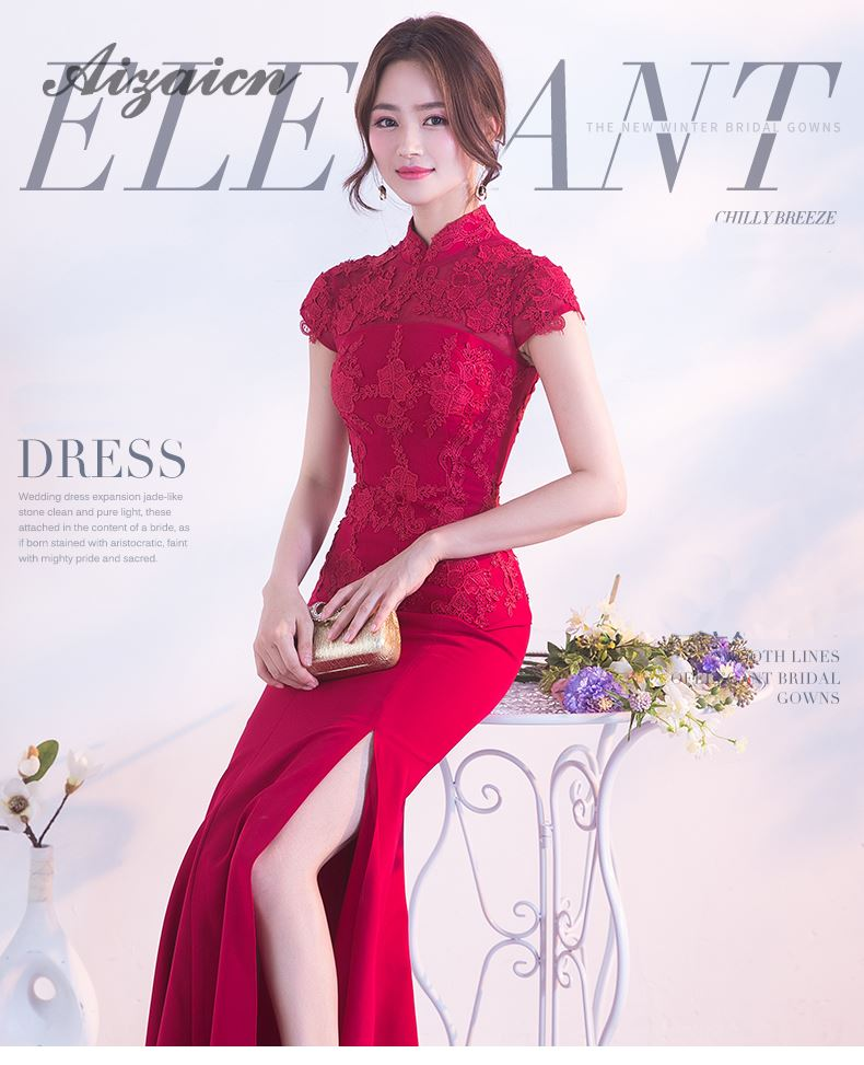 b2068e4af9b4 ... traditional chinese wedding gowns; summer women sexy flowers: red silk  qipao. Product Description. (1) ...
