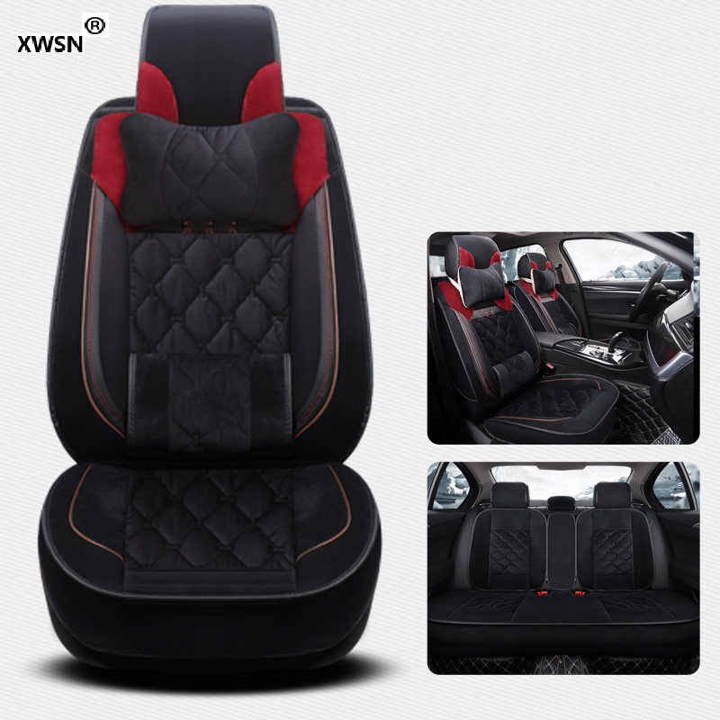 XWSN Special plush Car seat cover for wolkswagen All Models vw passat b5 6 polo golf tiguan jetta touran touareg Car styling