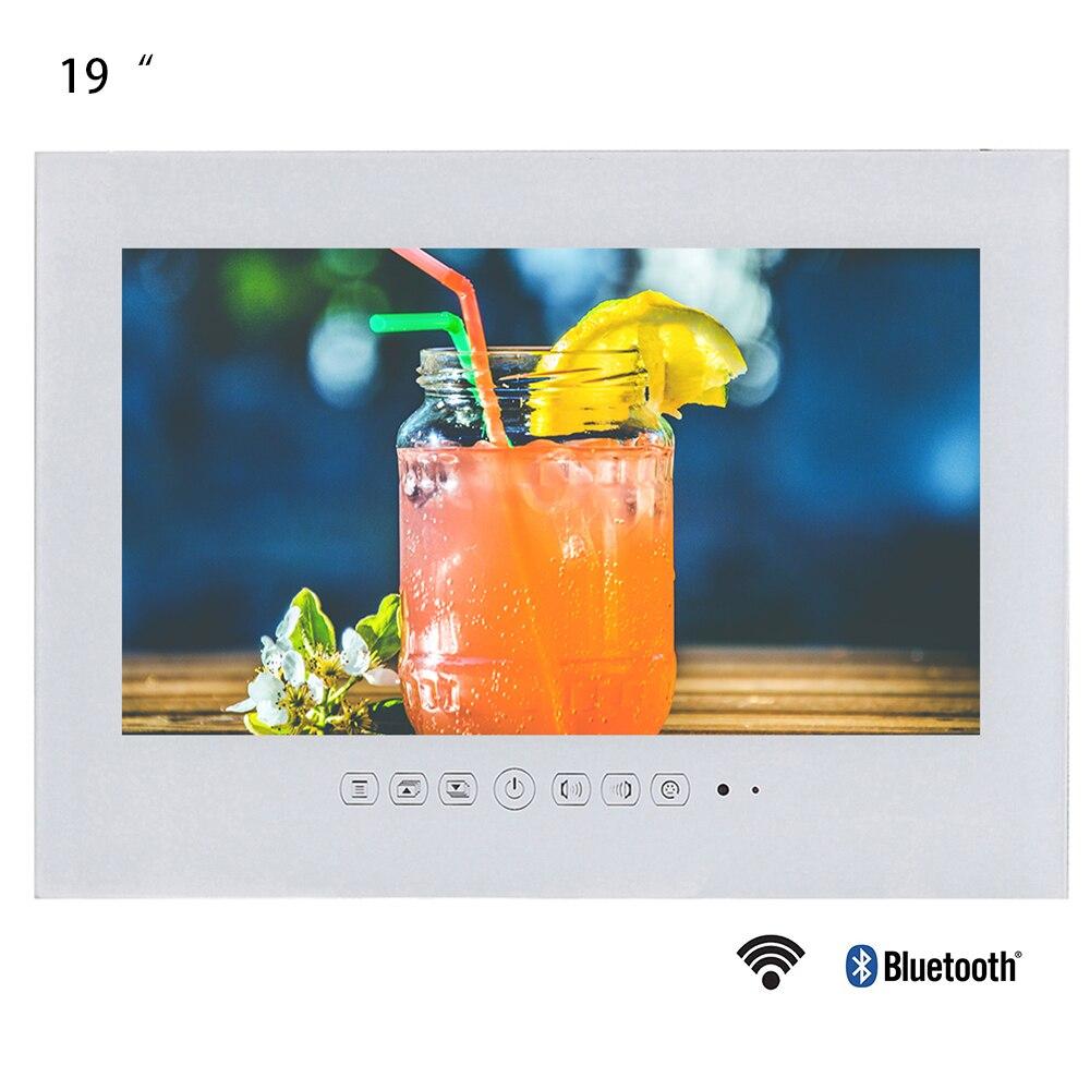 Souria 19 pouces Smart Android salle de bains IP66 étanche télévision sans cadre moniteur LED hôtel utilisé LED TV couleur noir/blanc