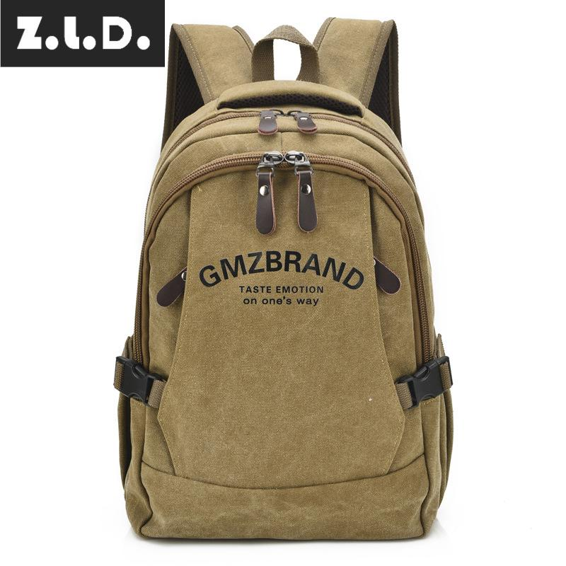 Us 23 77 18 Off Z L D Hot New 16 A Wash Canvas Bag Fashion Backpack Youth Student Large Capacity Men And Women Brand 15 Inch Computer In
