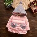 Casaco de inverno 1-3 anos-idade do bebê do sexo feminino roupas de algodão grosso além disso cashmere