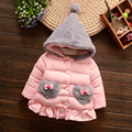 Winter coat 1-3 year-old female baby thick cotton clothing plus cashmere