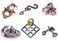 6PCS/Set Classic Metal Puzzle Mind Brain Teaser Puzzles Game for Adults Children