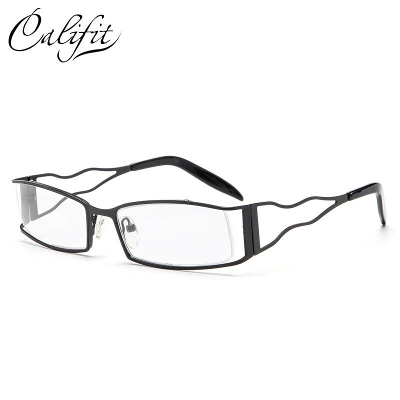 CALIFIT Vintage Prescription Glasses Women Metal Holloww Out Eyeglasses M High Quality Square 1.67 Myopia Lens Glasses Unisex