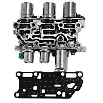 Transmission Solenoid บล็อก Solenoid แพ็ค 4F27E ทดสอบ Fit สำหรับ Ford Mazda เกียร์วาล์วด้วย Solenoid
