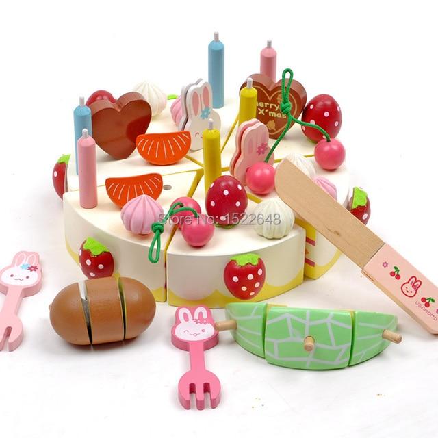 Mother Garden 32pcs Rabbit Birthday Cake Cook Miniature Food Dish