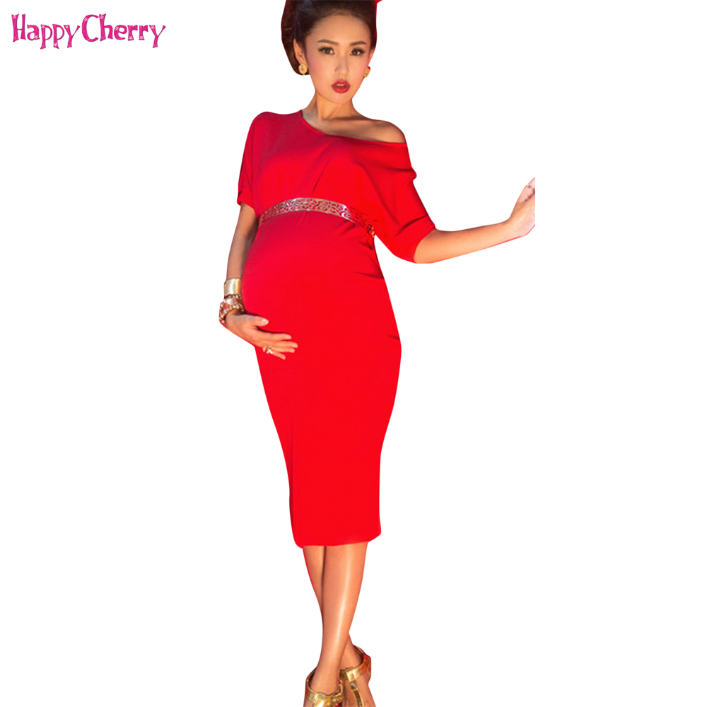 b872d843537 Happy Cherry New Maternity Dresses Maternity Photography Props Dress  Elegant Pregnancy Pregnant Photography Props with Sashes