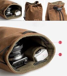 Image 5 - Camera Retro Protector Case Soft Bag Pouch for Canon Nikon Sony Pentax DSLR &  Mirrorless Camera  70D 5D3 D800 D5300 A7R2 XT 20