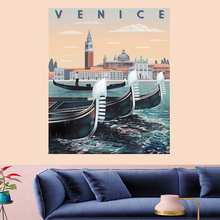 VENICE Dinghy Mandala Pattern Tapestry Vintage Retro building poster Wall Hanging persoanlity Home Decor Art Carpet