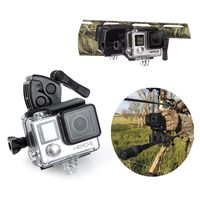 For Gopro Mount Fishing Rod Bow Gun Sportsman Clamp Clip For GoPro Hero 4 3 Xiaoyi