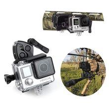 For Gopro Mount Fishing Rod Bow Gun Sportsman Clamp Clip for Xiaomi Yi GoPro Hero 4 3 SJ4000 SJ5000 SJ7000 Sports Action Camera