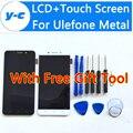 Ulefone display lcd + de Tela de Toque de Alta Qualidade do Metal 100% Novo Digitador Da Tela de Substituição Do Painel de Vidro Para Ulefone Metal