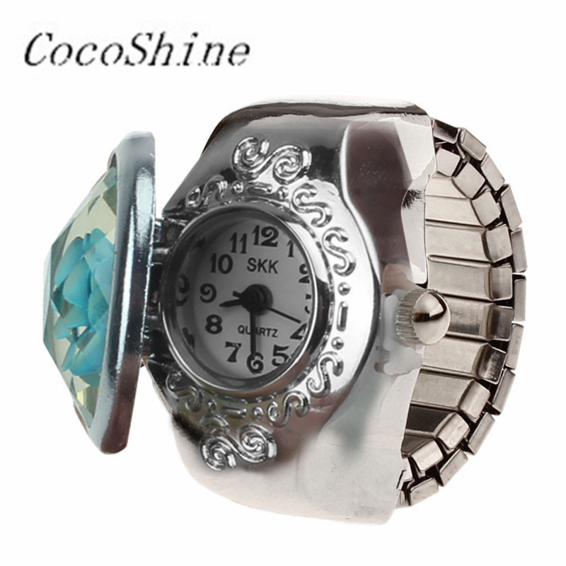 CocoShine D-868   & Wholesale! Fashion Vogue New Hot Creative Fashion Retro Rose Finger Watch Clamshell Ring Watch