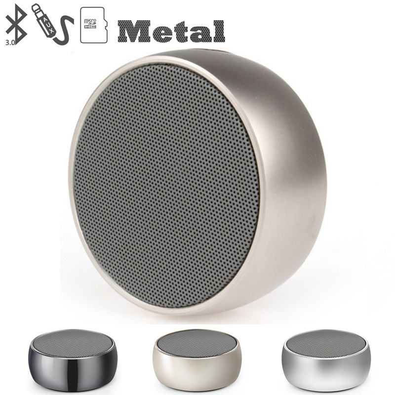 Bluetooth Speaker Card Small Steel Gun Mini Aluminum Alloy Small Audio can be Connected in Silver Computer Mobile Phone