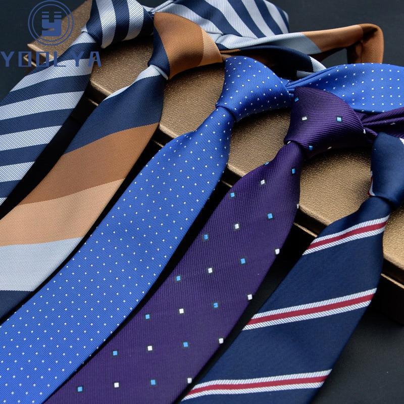 Man Skinny Ties 6cm Polyester Silk Narrow Neck Tie Stripes Dots Necktie Men Wedding Party Accessories Gravatas Slim Ties