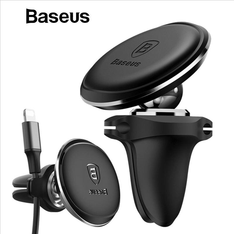 Baseus Magnetische Auto Halter Für Handy Halter Stehen GPS Air Vent Halterung Auto Handy Halter Für iPhone Samsung mit kabel Clip