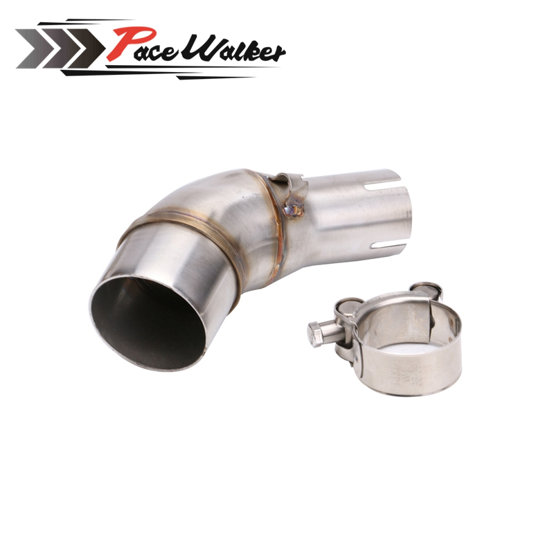 A middle connect for kawasaki Z250SL Motorcycle Exhaust Pipe Muffler Escape Connecting Pipe Front Link Pipe Moto Mid Pipe