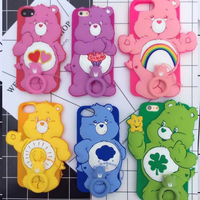 Funny 3D Cartoon Rainbow Bear Soft Silicone Phone Cover For Iphone 6 6s Plus Back Protector