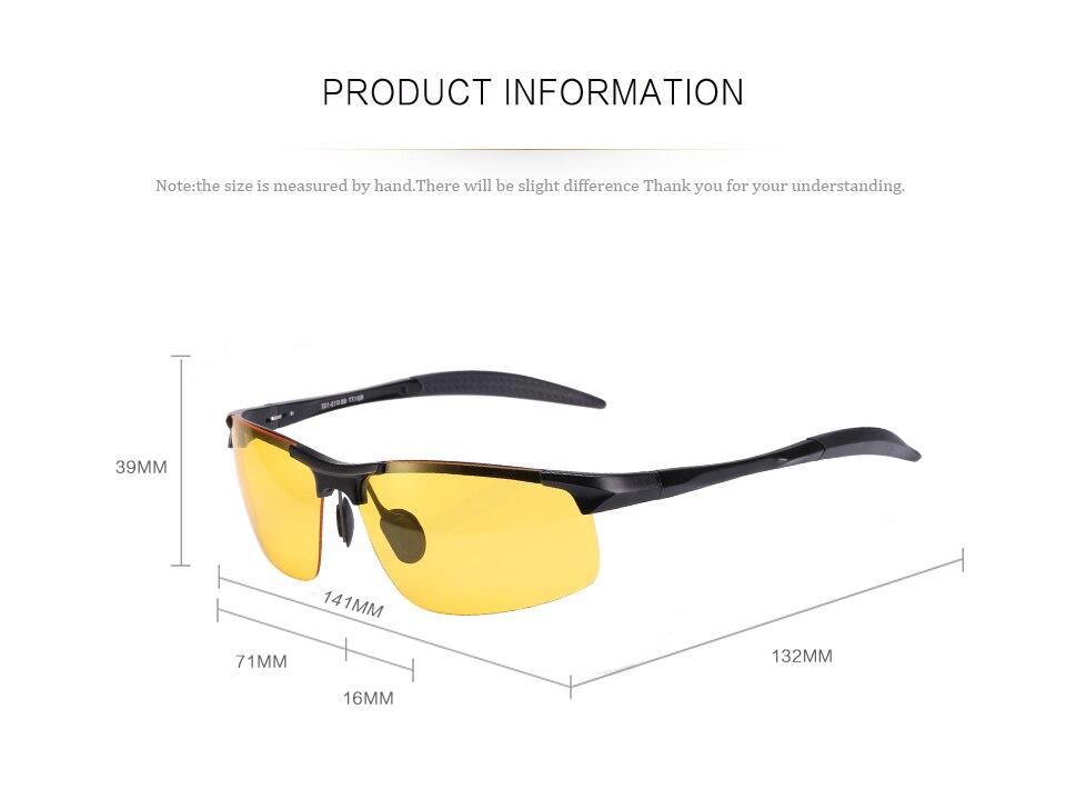 Reedoon óculos de visão noturna polarizados lente