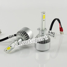 2pcs Headlights 72W 7600LM Car Led Light Bulbs H1 H3 H7 9005 9006 H11 H4 H13 9004 9007 Automobiles 6000K Fog External Lamps c6