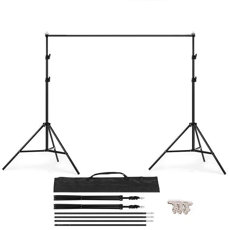 PHOTO BACKDROP STAND KIT Background Support T Shape Backdrop for Studio Photo 152cm,200cm, 260cm, 280cm, 300cm 200cm 300cm grey background backdrop cloth with 2 6m 3m 8 5ft 9 8ft photo background backdrop stand support kit
