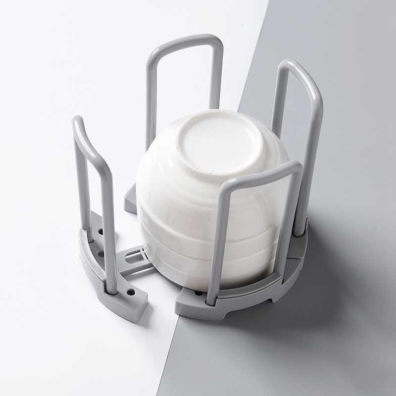 Pot Lid Holder Plastic Dish Drying Rack