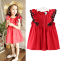 Children Girls Dresses Cotton Sleeveless Baby Girls Clothing Summer Big Lace Children Princess Dress 2 3 4 5 6 7 8 9 10 Years