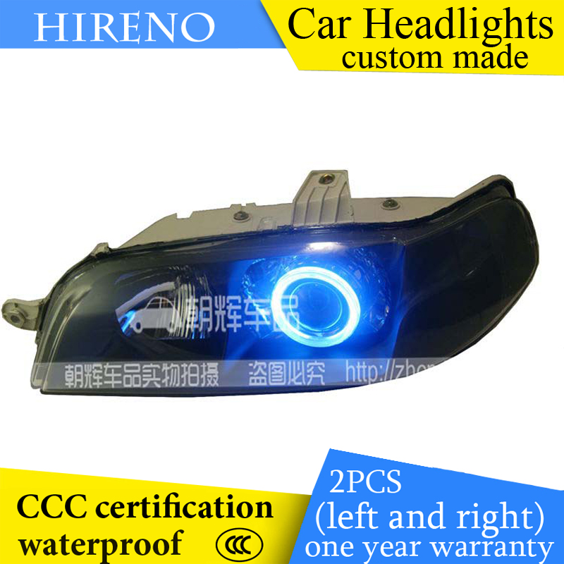 Hireno custom Modified Headlamp for Fiat Palio Weekend Headlight Assembly Car styling Angel Lens Beam HID Xenon 2 pcs