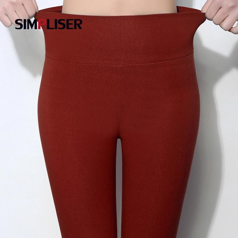 SIMPLISER Elastic High Waist Women Pencil Pants Plus Size 5XL 6XL Large Leggings Female Candy Color 2018 Trousers Femme Pantalon