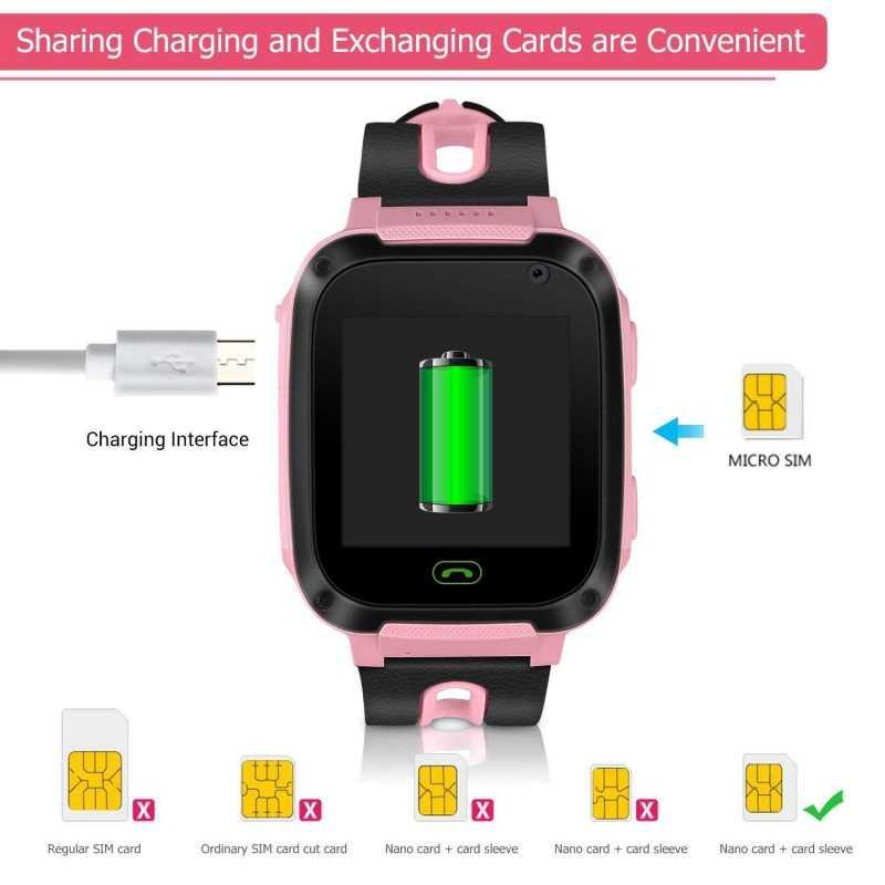 Enfants Smartwatch gps montres tensiomètre SIM carte appel Tracker enfant caméra SOS Anti-perte montres intelligentes pour enfants