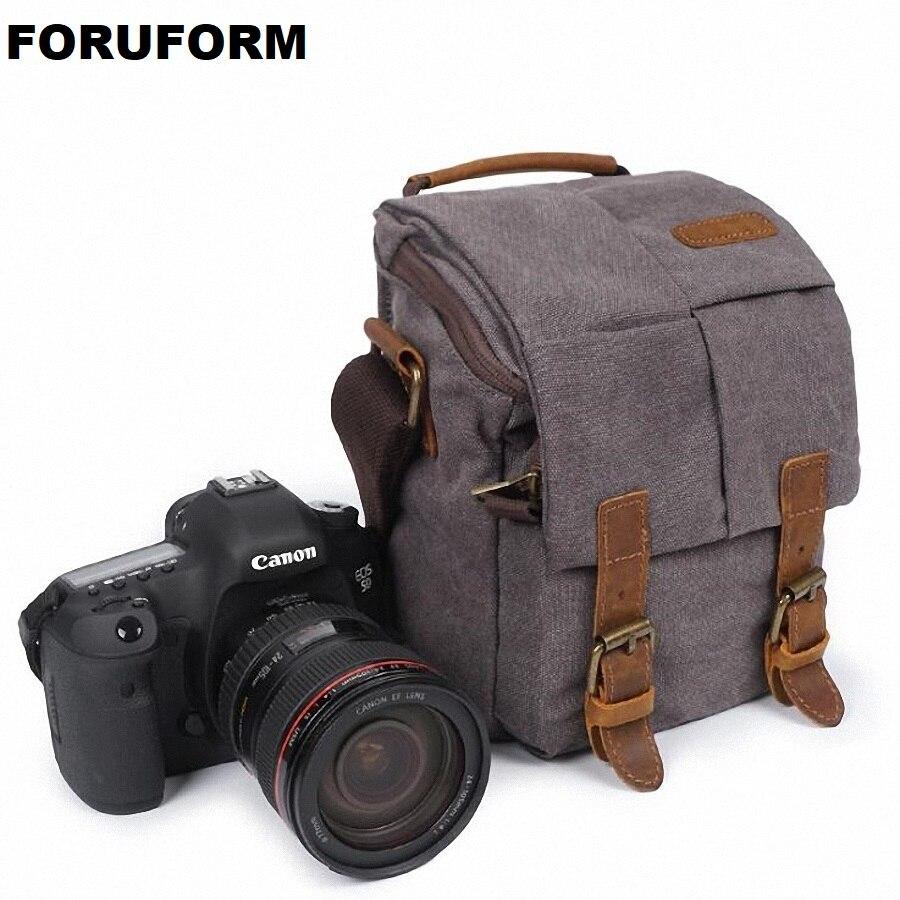 Photo Bag Waterproof Canvas Vintage Shoulder DSLR Camera Bag Case for Nikon Canon LI-2009 tonba 1301 cross body waterproof stylish camera bag for nikon canon