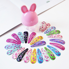 10/20pcs 5cm Rabbit Ears Box Gift Snap Hair Clips BB Hairpins Cute Cartoon Barrettes for Baby Children Women Girls