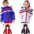 Новый Ребенок снег износ меховой воротник костюм зимний утка пуховик дети девушки парни одежда Дизайнеров бутик малышей наряды