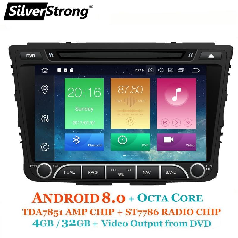 SilverStrong OctaCore 4 gb + 32 gb Android8.0 Creta Voiture DVD Pour Hyundai ix25 Creta GPS Radio Lecteur Multimédia également 7.1 Quadcore option