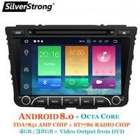 SilverStrong OctaCore 4G Android8.1 8,0 Creta автомобильный DVD для hyundai ix25 Creta gps Радио медиаплеер также 8,1 четырехъядерный вариант