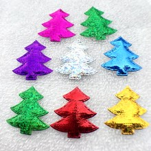 80PCS/lot 32*34mm Cloth Sequins patches icon Christmas tree Appliques riverdale qatar uae -C52A(China)